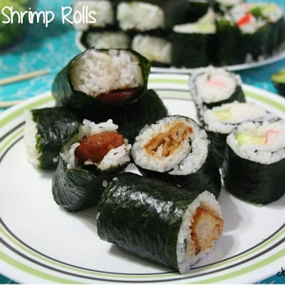 Make your own sushi at home with this simple starter recipe for Orange Shrimp Rolls that combines familiar flavors in a new way.