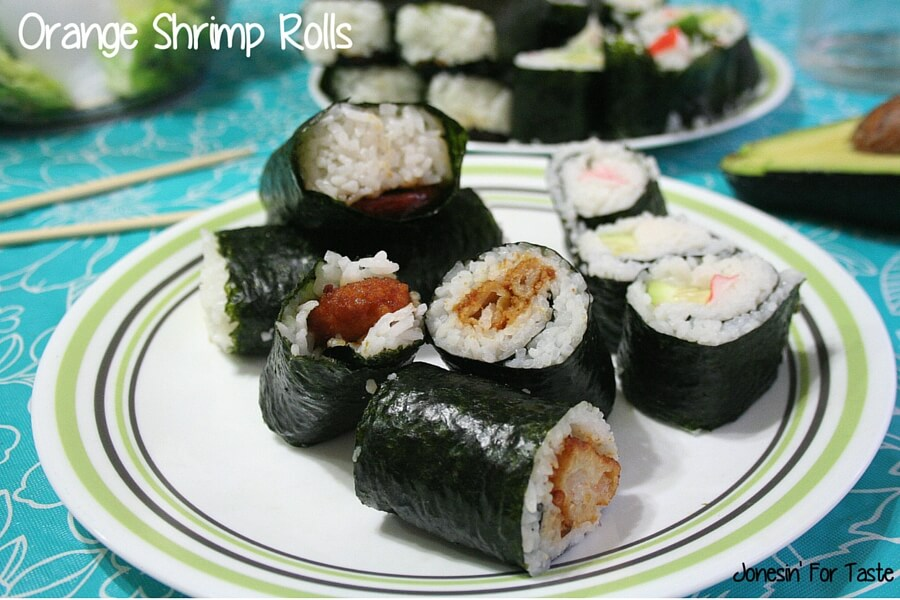Orange Shrimp Rolls