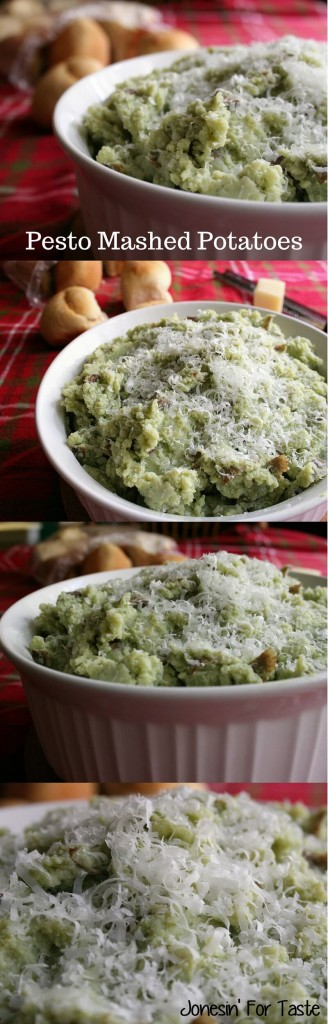 These are not your traditional mashed potatoes! The addition of pesto and Parmesan cheese transform plain potatoes into a dish packed with flavor.