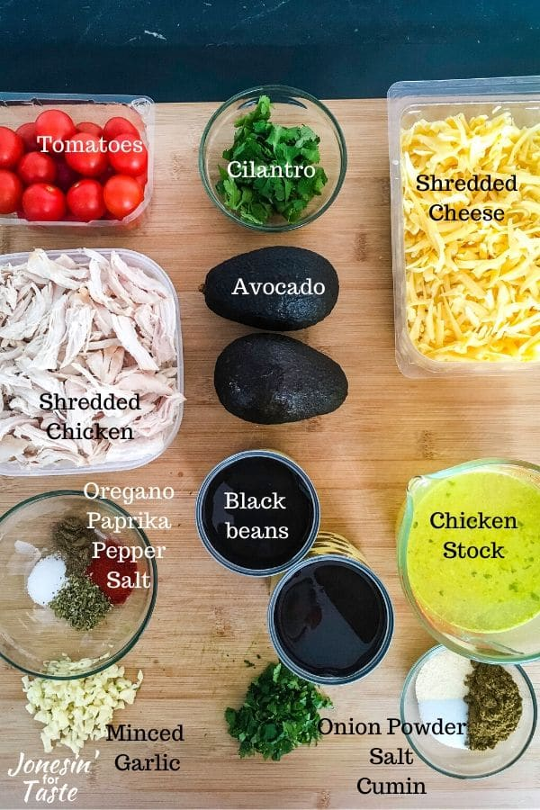 ingredients on a wooden cutting board