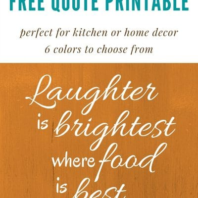 Laughter Is Brightest Printable