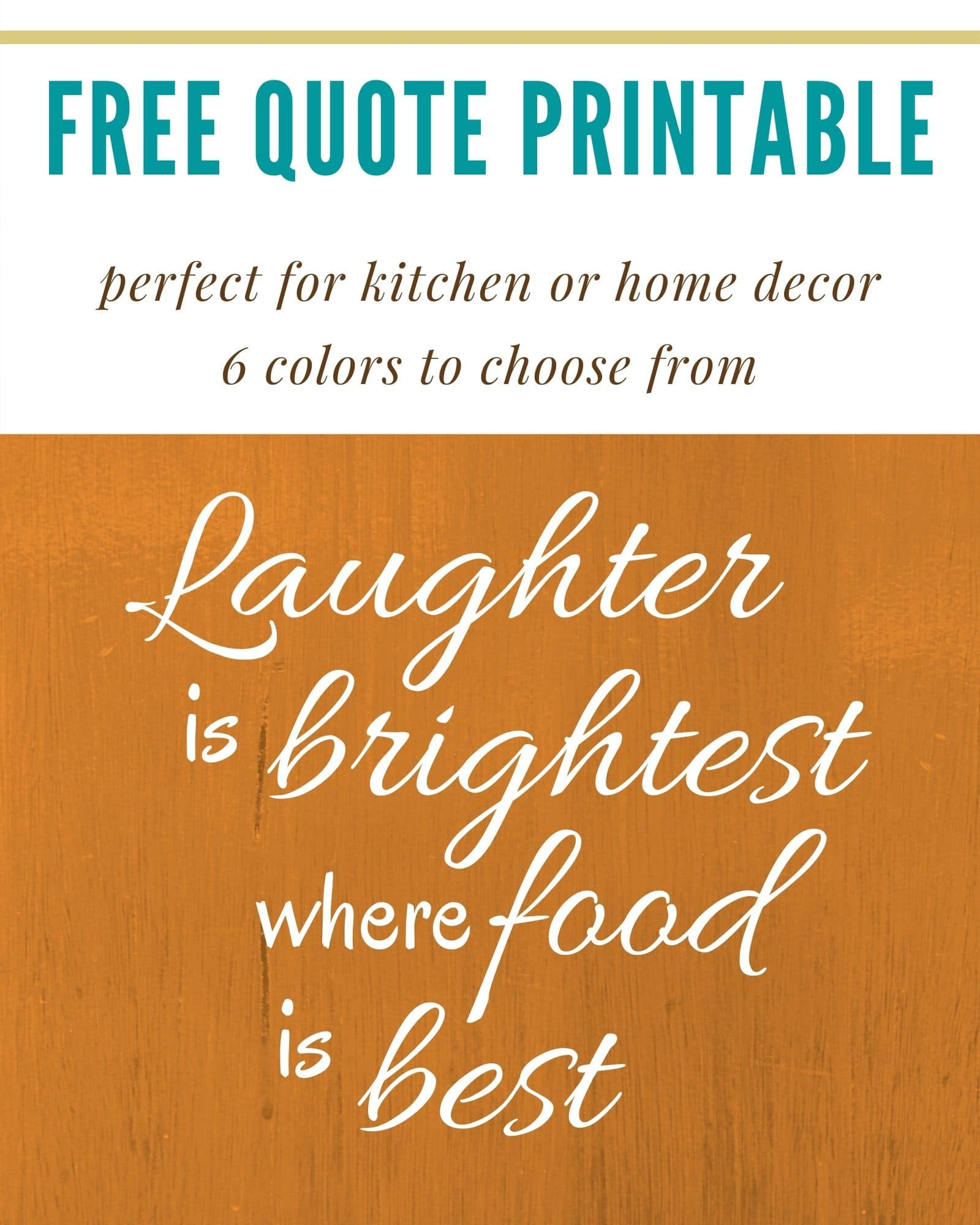 Free chalkboard printable: Laughter is brightest where food is best- Irish proverb |by Jonesin' For Taste