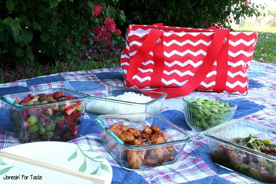 #ad Take your next dinner outdoors and make family dinners special again. A super simple fruit salad tossed with a honey, lime, mint sauce is perfect for a dinner outside. Pair with a ready made- 20 minutes from freezer to plate- meal from InnovAsian so you can spend less time in the kitchen and more time with the family! #NoTakeOutNeeded #CB