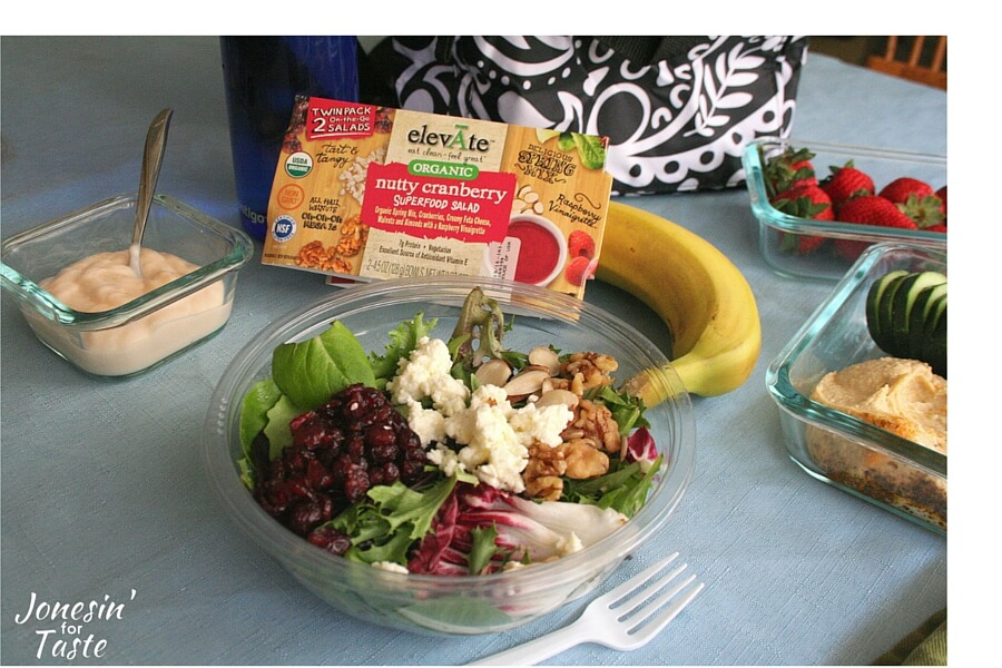 Making smarter food choices throughout the day is so much easier when you make the choices at home. Pack a Ready Pac elevĀte salad from Costco with other smart snack choices for all day eating to keep you happy and healthy.