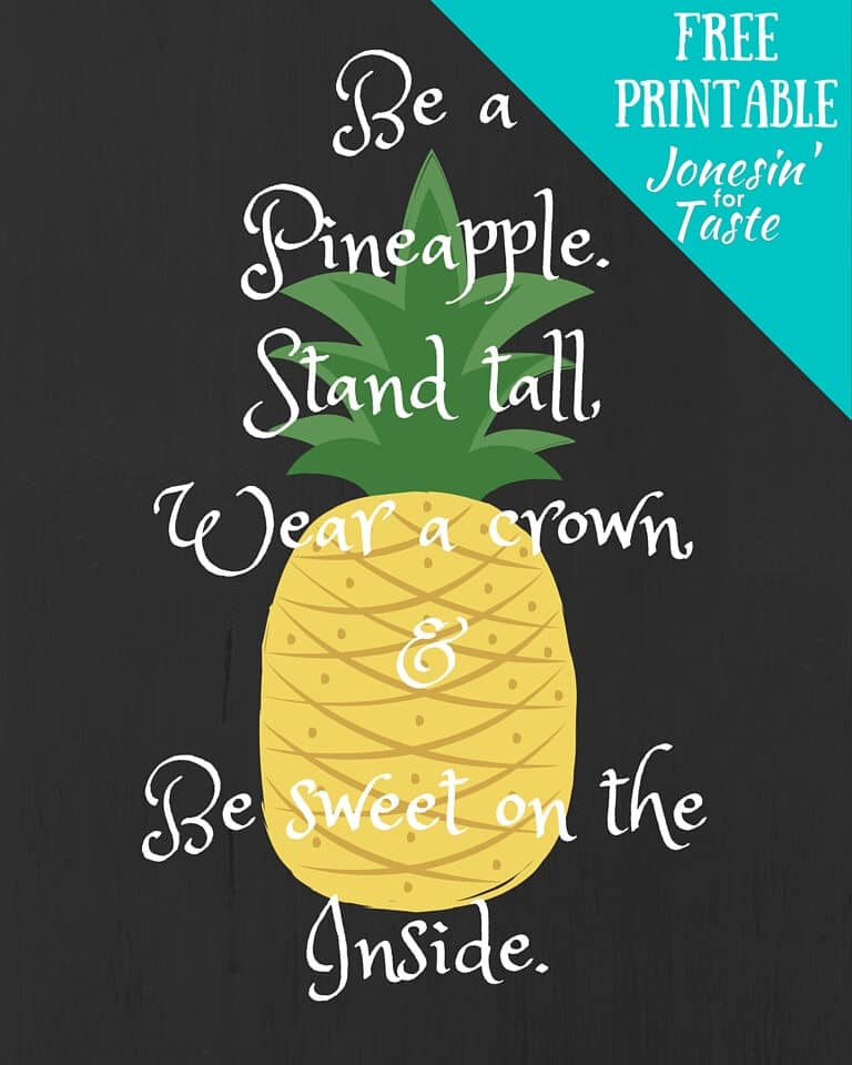 Challenger image with free printable pineapple