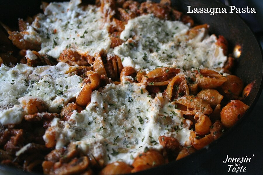 Easy One Pot Lasagna Pasta