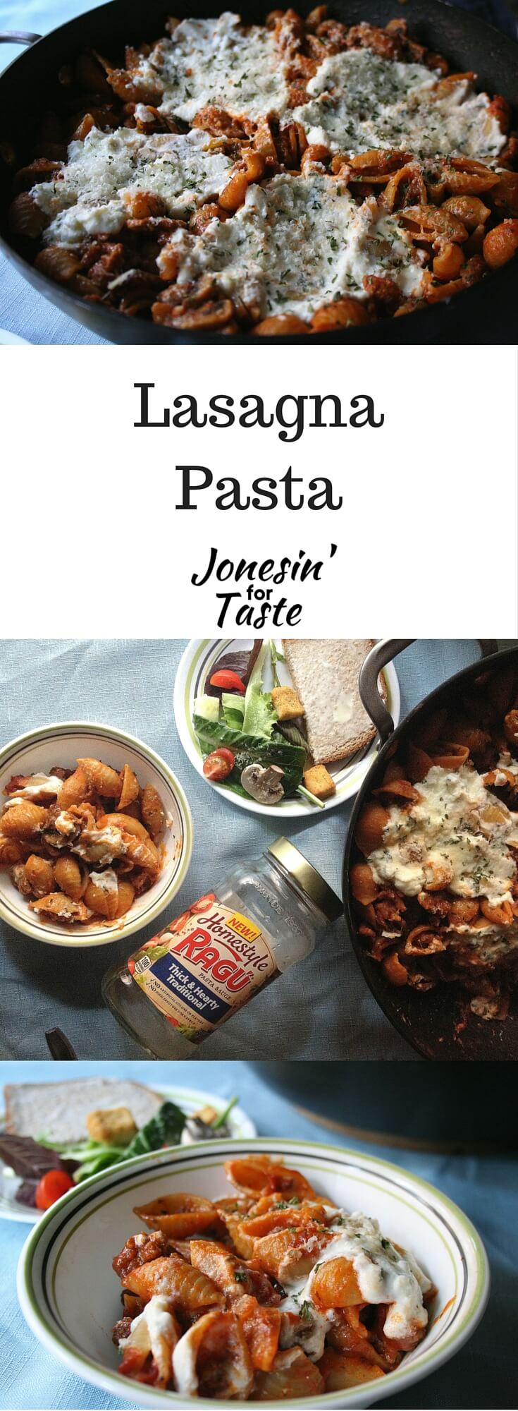 Easy One Pot Lasagna Pasta combines the classic flavors of lasagna are combined in a 30 minute dish that is easy enough for a quick weeknight meal. #easyonedishdinners #30minutemeals