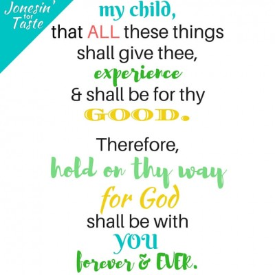 Free Printable- Hold On Thy Way