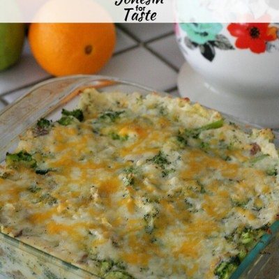 Cheesy Ranch Potato Broccoli Bake take the deliciousness of twice baked potatoes and turning them into a casserole loaded with cheese, ranch, and broccoli. Kid friendly and easy to make for a crowd.