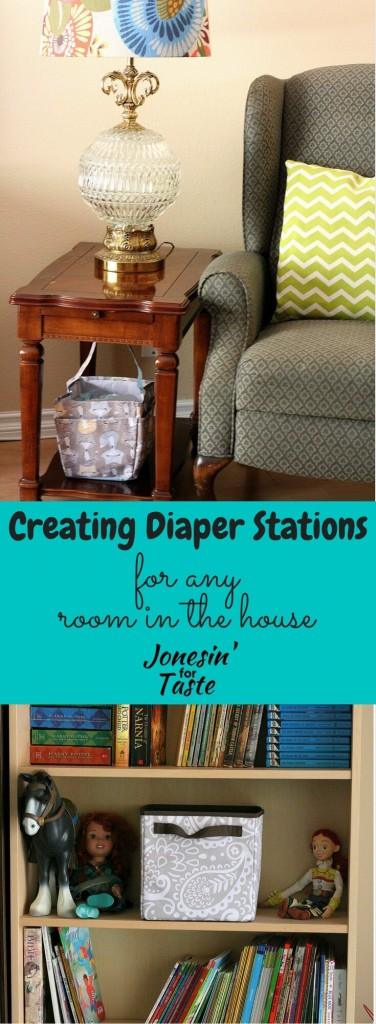 Hide those necessary diaper essentials in plain sight with cute containers and create diaper stations anywhere in your home.