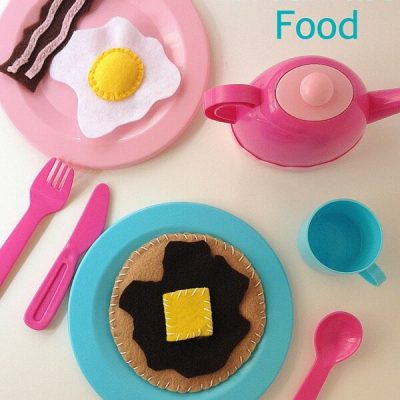 DIY Felt Breakfast Play Food