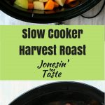 Butternut squash, apples, fresh cranberries, and a pork roast combine together in the slow cooker for a perfect fall roast.