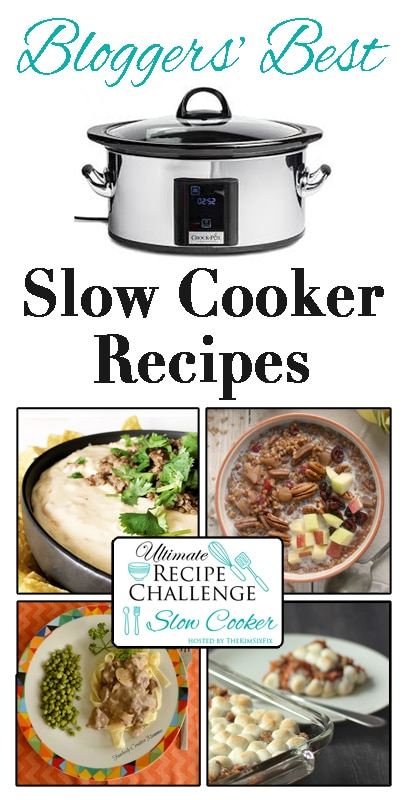 15+bloggers are participating in this month's Ultimate Recipe Challenge- Slow Cooker Recipes!