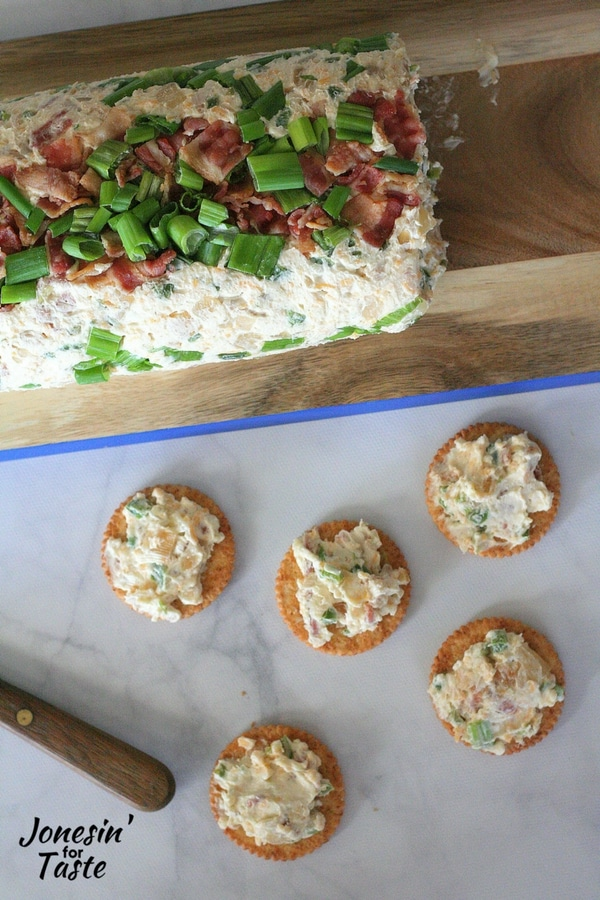 This Bacon Jalapeno Cheese Log is an easy appetizer perfect for any party.