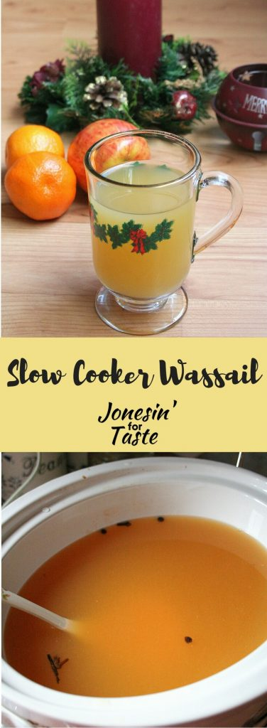 Easy Slow Cooker Wassail is sure to please during the holidays.  Simple to put together and enough to serve a crowd it is sure to be a hit at any gathering.