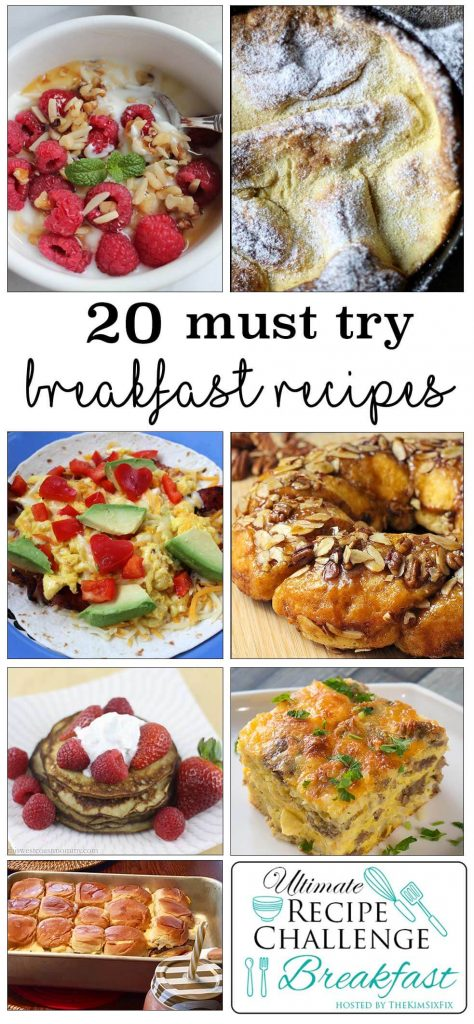 20+ Must Try Breakfast Recipes