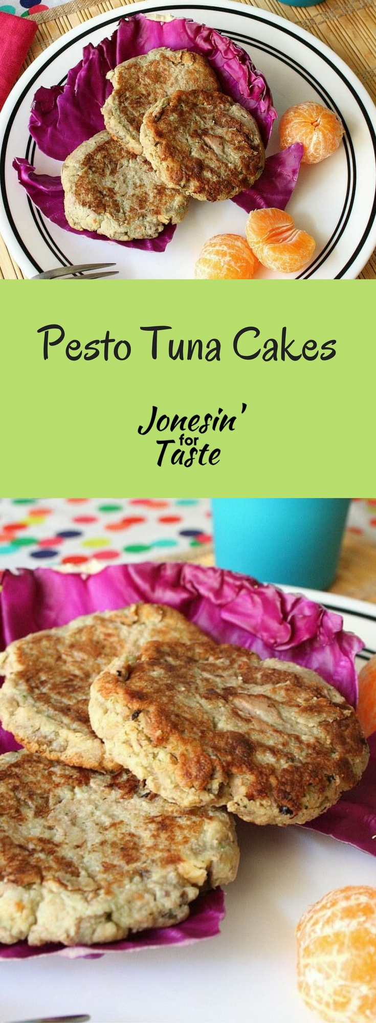 Easy Pesto Tuna Cakes are an inexpensive dish to prepare using leftover mashed potatoes andpesto for a quick weeknight meal.
