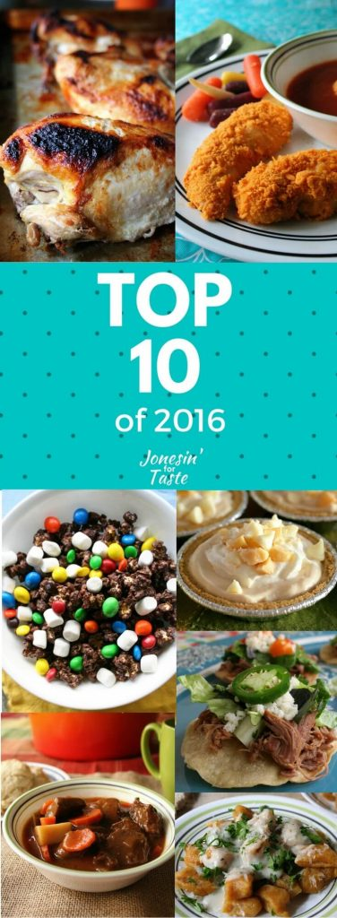 The top 10 most popular posts in 2016 from Jonesin' For Taste