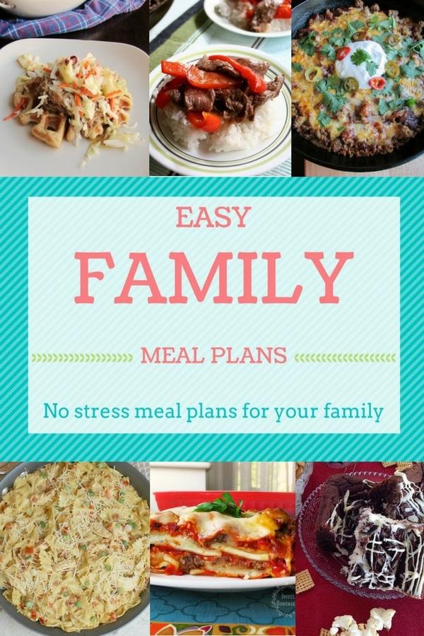 Easy Family Meal Plan Week 3