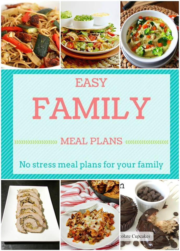 Easy Family Meal Plans making meal planning just a little bit easier. Week 1- 5 meals, 1 dessert