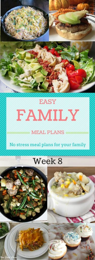 Easy Family Meal Plans Week 8