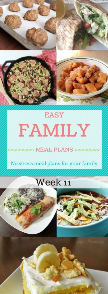 Easy Family Meal Plan Week 11