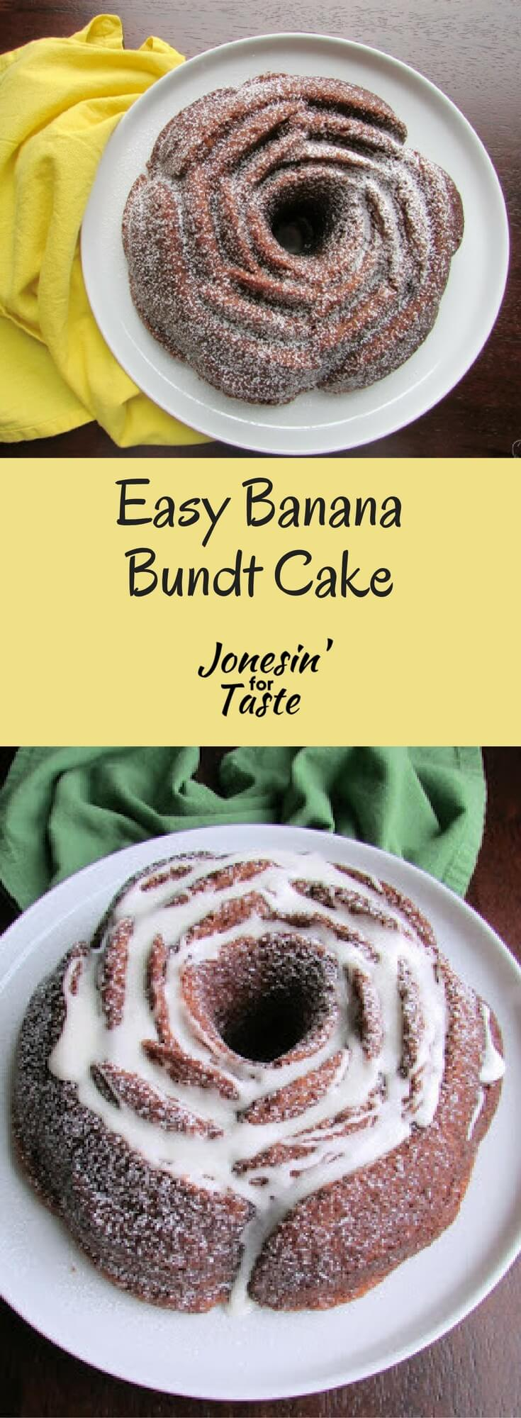 This gorgeous Banana Bundt Cake is deceptively easy when baked in a beautiful tin and lovely with a simple glaze or powdered sugar dusting.