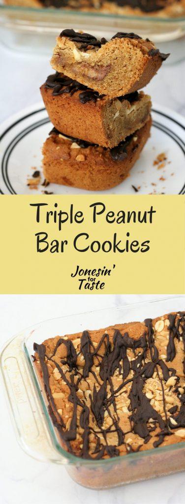 Triple Peanut Butter Bar Cookies