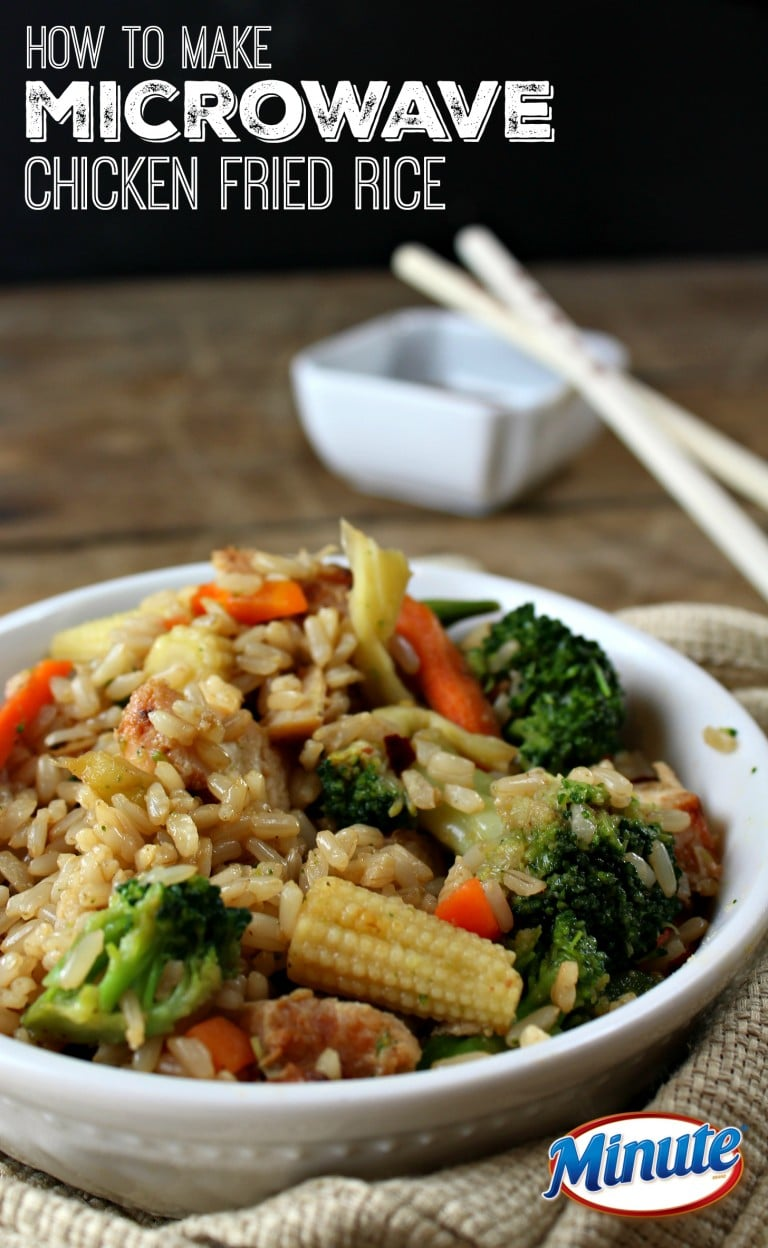 microwave chicken fried rice