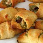 Easy Chicken Pesto & Sun Dried Tomato Croissants #SundaySupper