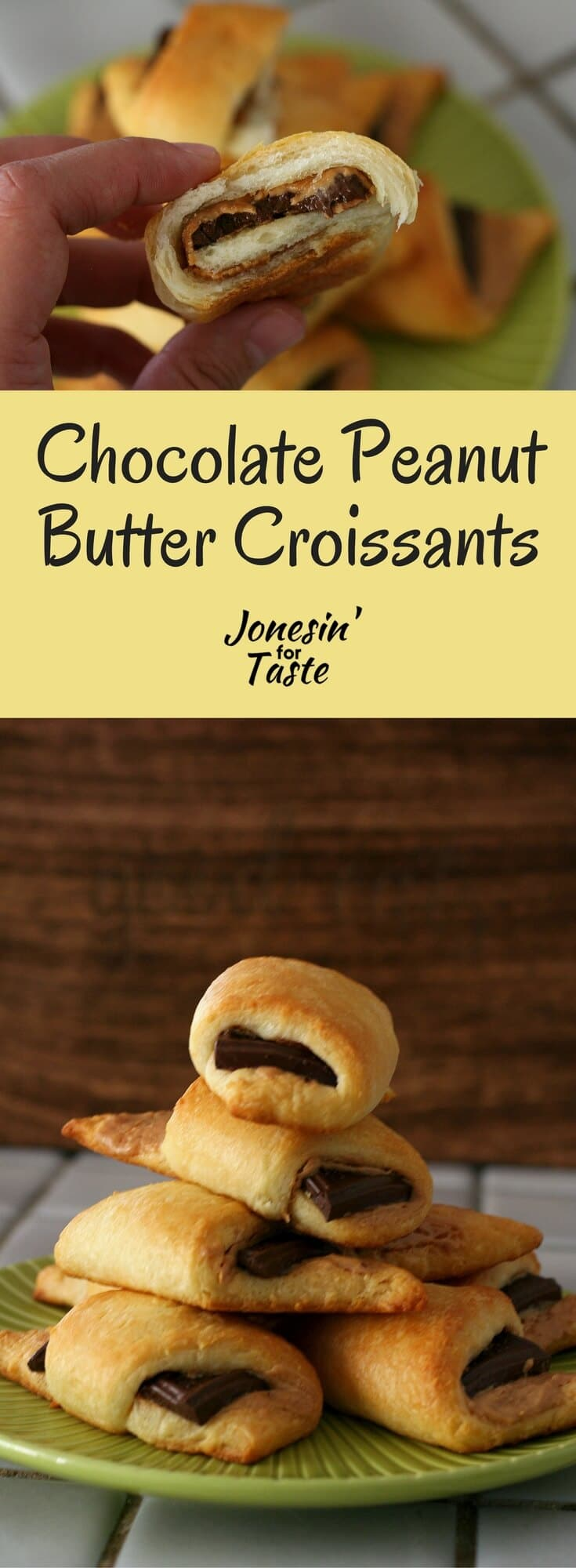 It takes just 3 ingredients and 20 minutes to make these easy chocolate peanut butter croissants.