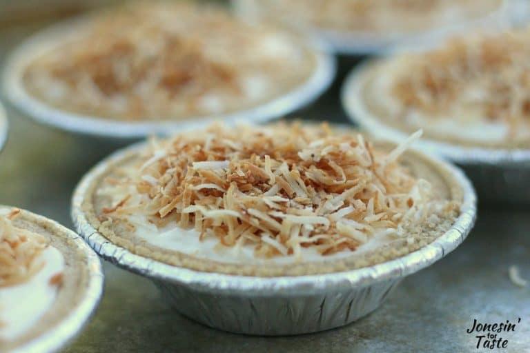 Easy Mini No Bake Coconut Cheesecakes