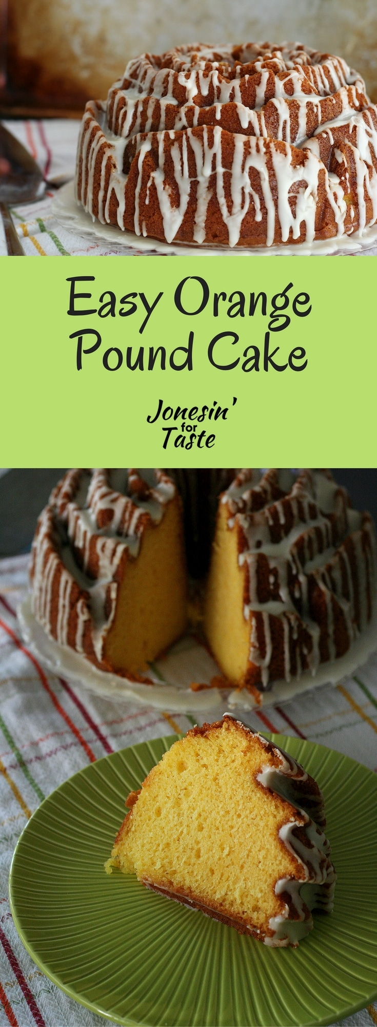 Easy Orange Pound Cake with a simple orange glaze is a crowd pleasing favorite that comes together with just 6 ingredients.