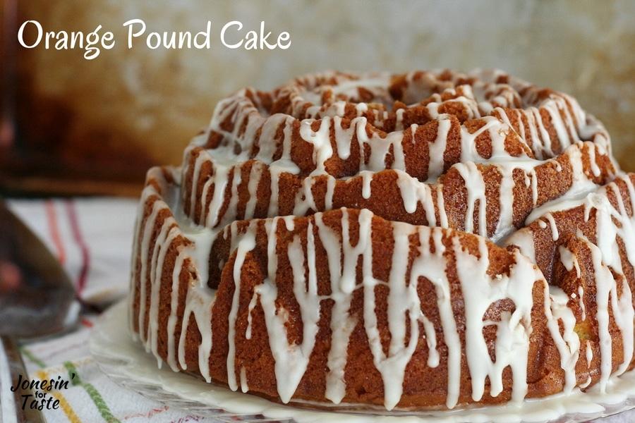 Drizzle glazed Easy Orange Pound Cake