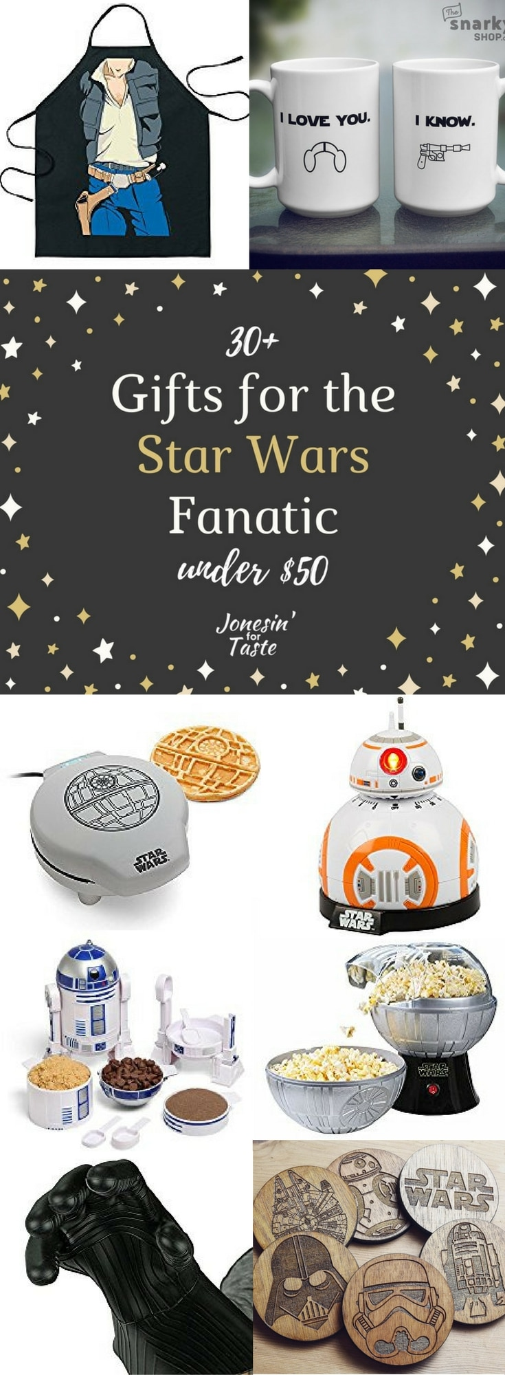 These 30+ kitchen Star Wars gifts under $50 are sure to make any Star Wars fan happy. Perfect ideas for Father's Day or birthdays