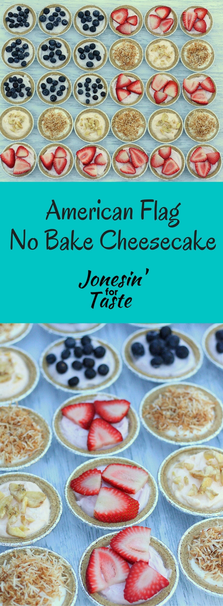 Incredibly easy and with minimal ingredients, this American Flag No Bake Cheesecake .