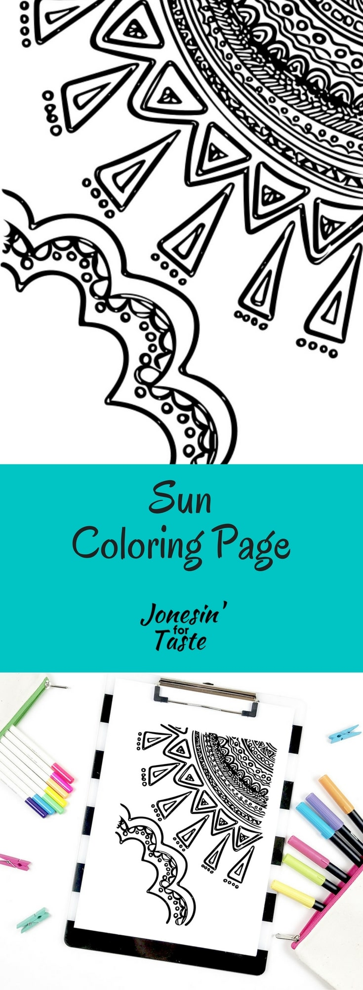 Sun Coloring Page | Jonesin\' For Taste