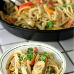 Chicken Fajita Pasta with Cilantro Lime Sauce