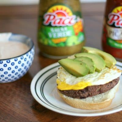 Huevos Rancheros Breakfast Burger