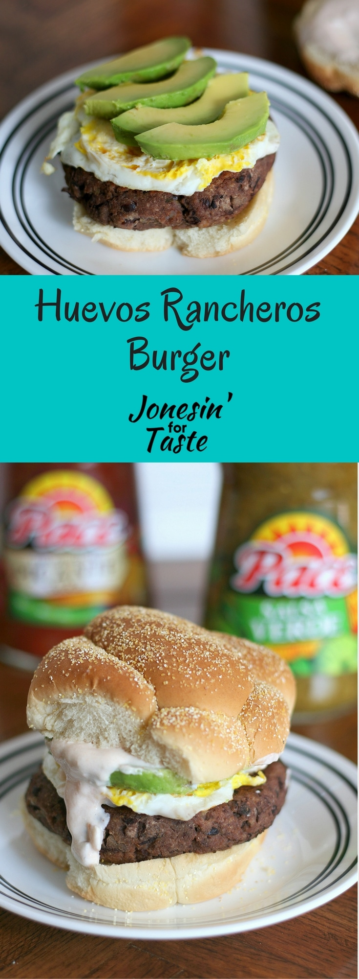 #ad Ban the Bland breakfast with Huevos Rancheros Burger, a meatless burger that mimics the flavors of the classic dish with a black bean burger and fried egg! #MakeGameTimeSaucy #CollectiveBias @Walmart