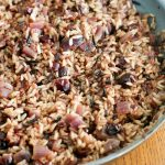 A pan of Orange Cranberry Wild Rice