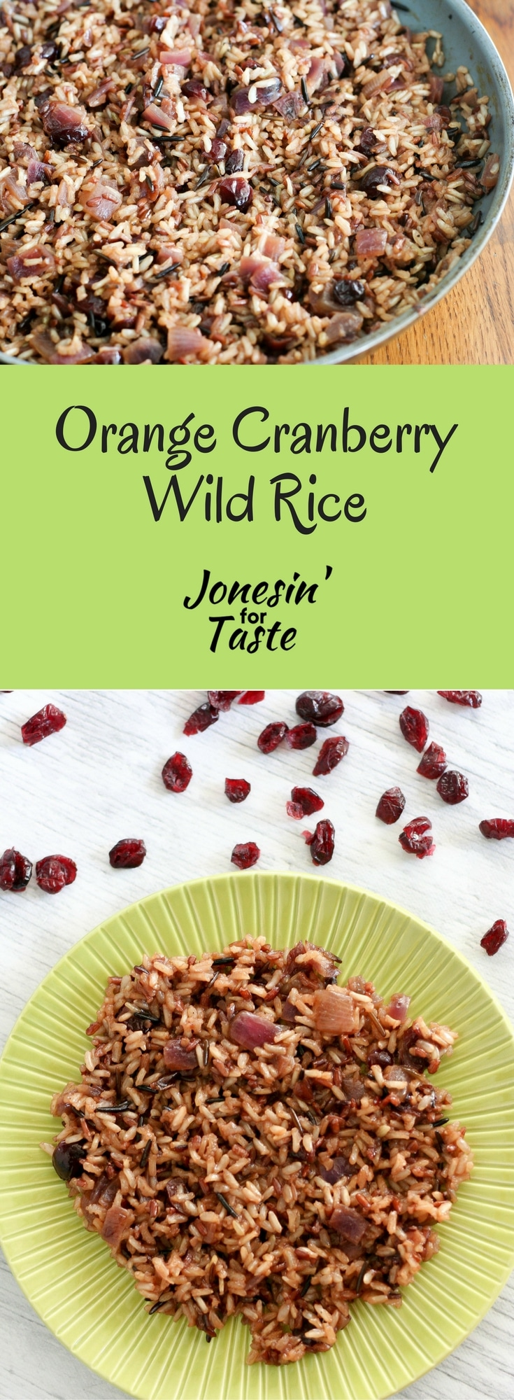 Orange Cranberry Wild Rice is a little sweet, tart, and nutty filled with the wonderful flavors of fall. #cranberryweek #Thanksgivingrecipes