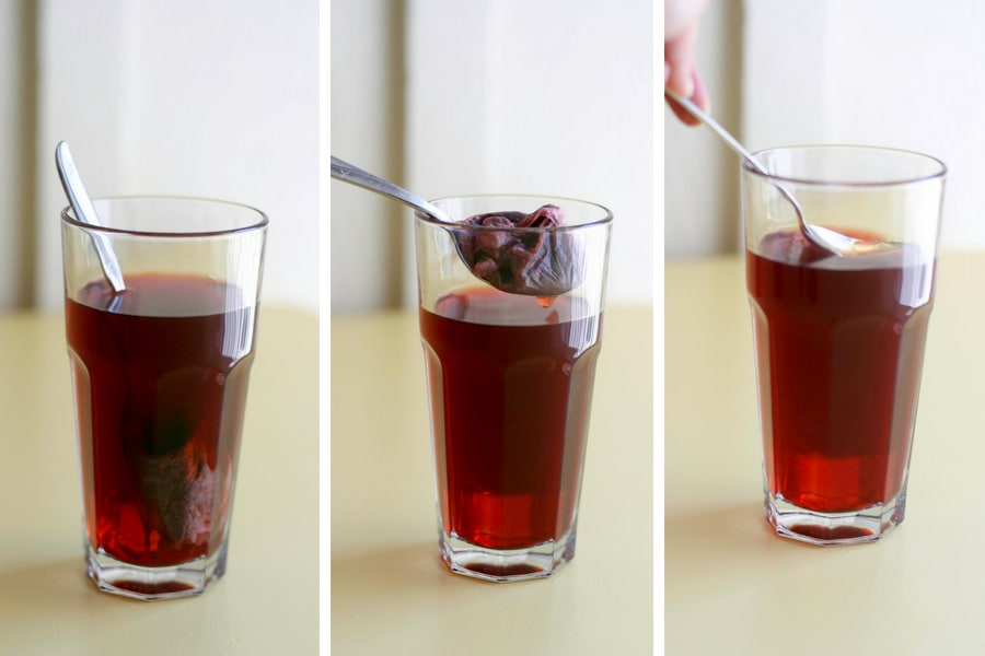 Step by step how to make herbal iced tea