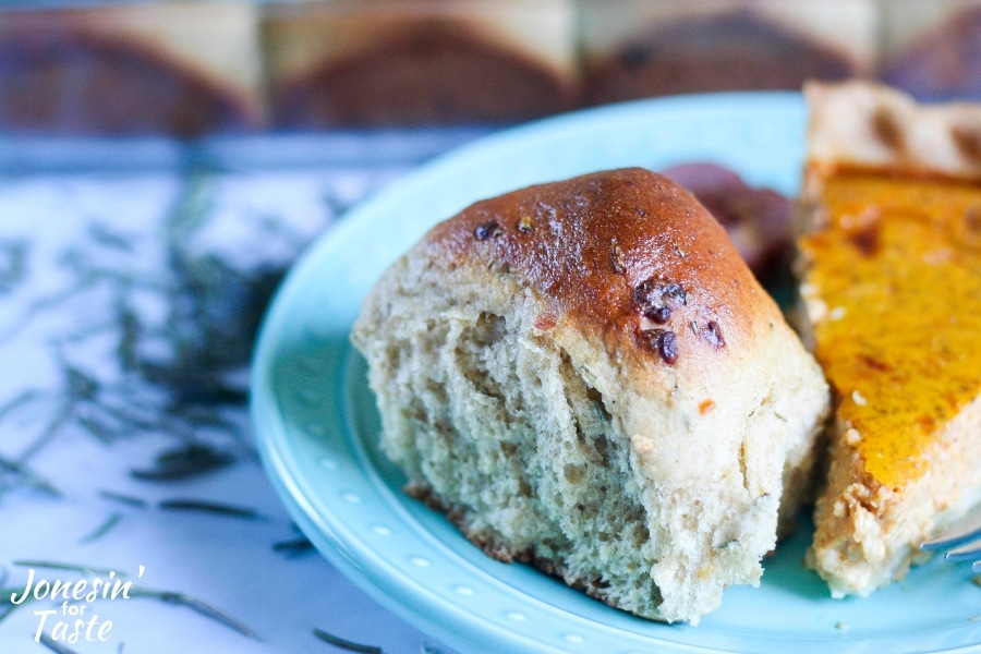 90 Minute Whole Wheat Parmesan Rosemary Bread Rolls