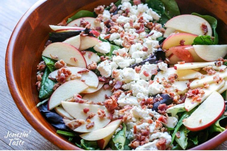 Apple Bacon and Goat Cheese Salad #AppleWeek