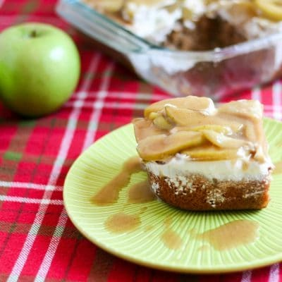 Apple Spice Poke Cake #AppleWeek