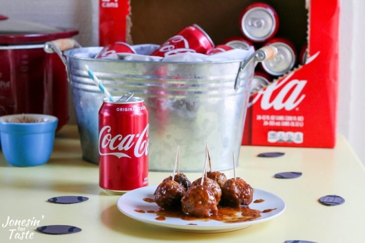 Slow Cooker Coca-Cola BBQ Turkey Meatballs