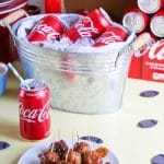 #ad Slow Cooker Coca-Cola® BBQ Turkey Meatballs are perfect for game day when made in the slow cooker with Coca-Cola® BBQ sauce and paired with an ice cold Coca-Cola®. #KickoffWithGreatTaste #CollectiveBias #jonesinfortaste #slowcooker #BBQ #meatballs