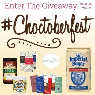 Graphic showing the choctoberfest giveaway prizes