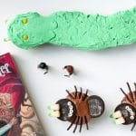 Harry Potter spider and Basilisk cupcake on a white table